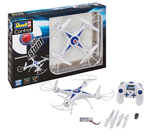 Revell Control 23842 RC Quadcopter GO! Stunt, für Einsteiger, 2.4GHZ, Akku, Flip-Funktion, Rotorschutz,...
