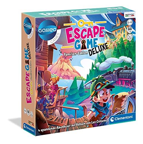 Clementoni 59257 Escape Game – Deluxe, Familien-Edition, Gesellschaftsspiel zum Rätseln, mit 4...