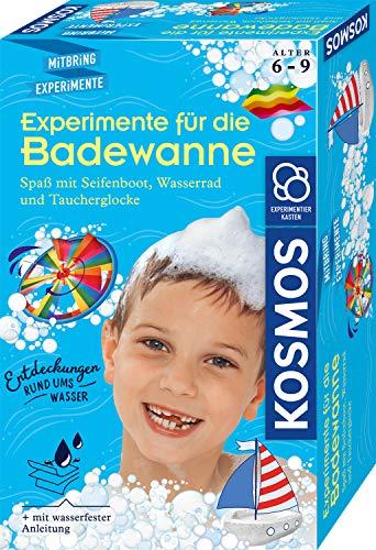 KOSMOS 657833 Experimente für die Badewanne, Experimentier-Spaß mit Seifenboot, Wasserrad und...