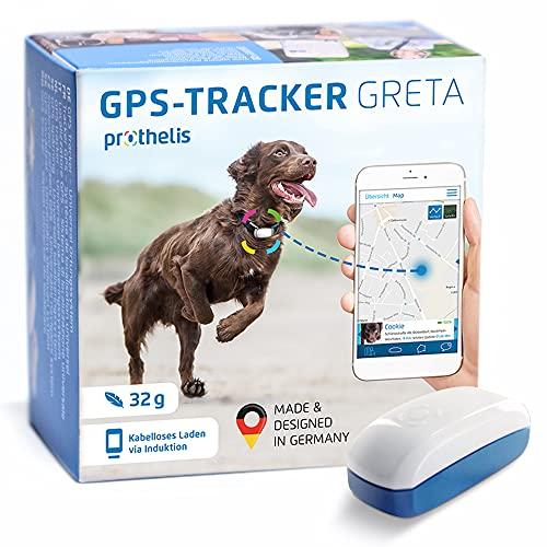 Prothelis Greta Hunde GPS Tracker Mini Peilsender mit App 32g leicht wasserdicht | Tracking GPS für...