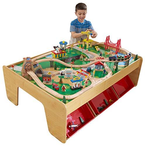 KidKraft 17850 Eisenbahnset und Spieltisch Waterfall Mountain Klassisches Spielzeugeisenbahn-Set mit...