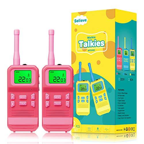 Selieve Spielzeug 3-12 Jahren für Mädchen, Walkie Talkies für Kinder Spielzeug für Kinder Funkgerät...
