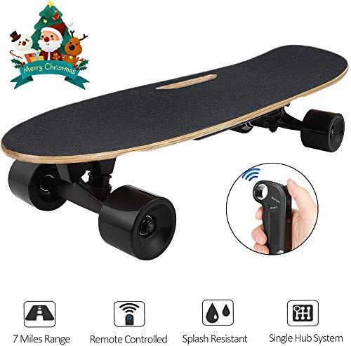 Hiriyt Elektrisches Skateboard Longboard Skateboard mit Funkfernbedienung auf Vier Rädern,...
