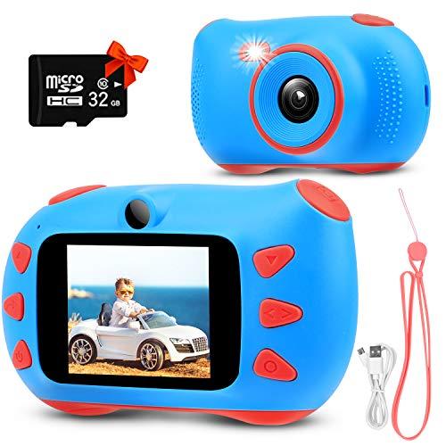 RUMIA Kinderkamera Digitalkamera Fotoapparat Kinder für Jungen Mädchen 1080P Fotokamera Bester...