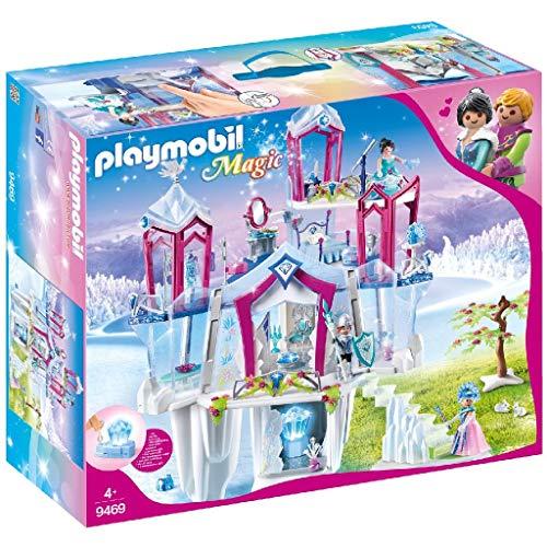 PLAYMOBIL Magic 9469 Funkelnder Kristallpalast mit Leuchtkristall, Inkl. Farbwechsel-Kleidung, Ab 4...