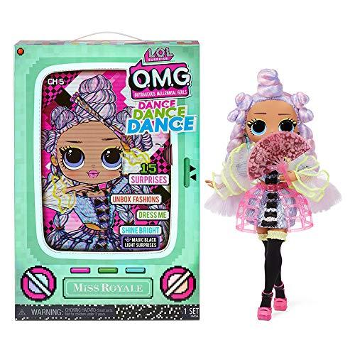 L.O.L. Surprise! 117872EUC OMG Dance Dance Dance Miss Royale Fashionpuppe mit 15 Überraschungen inkl....