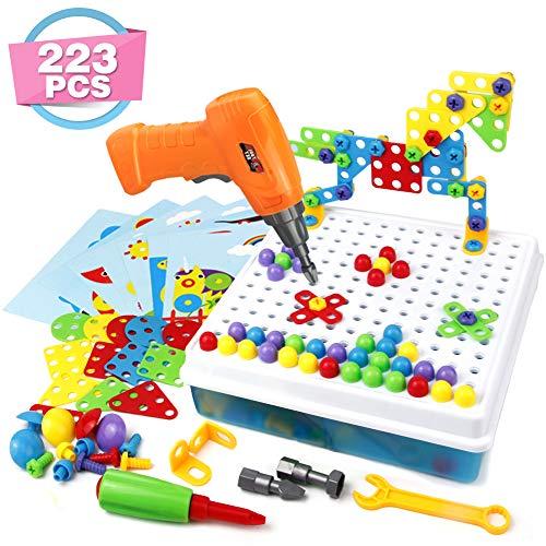 Symiu 3D Puzzle Kinder Mosaik Steckspiel Bausteine mit Schraubendreher Schrauben Pädagogisches Spielzeug...
