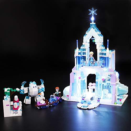 BRIKSMAX Led Beleuchtungsset für Lego Disney Princess Elsas magischer Eispalast,Kompatibel Mit Lego...