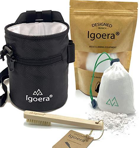Igoera Original Boulder- / Kletter Set inkl. Chalkbag, Boulder-Bürste und Chalkball | die ideale...