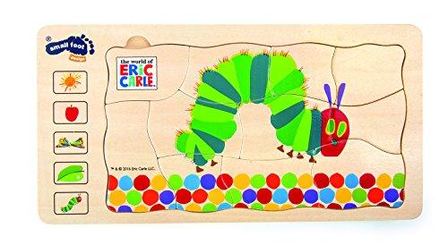 small foot 10431 Schichtenpuzzle 'Raupe Nimmersatt' aus Holz, 5 Schichten mit unterschiedlichen Motiven,...
