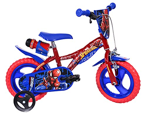 Spiderman Kinderfahrrad Spiderman Jungenfahrrad – 12 Zoll - Original Lizenz - Kinderrad mit...