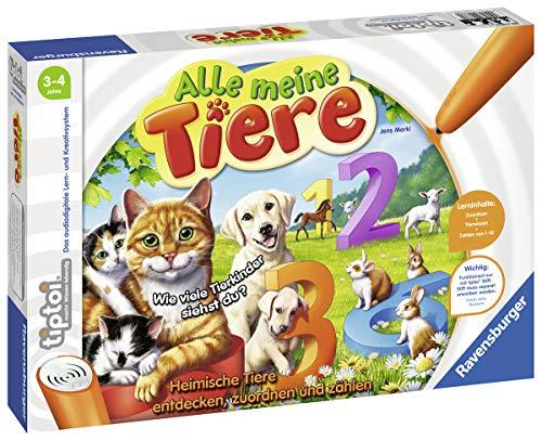 Ravensburger tiptoi 00776 - 'Alle meine Tiere' / Spiel von Ravensburger ab 3 Jahren / Lerne spielerisch...
