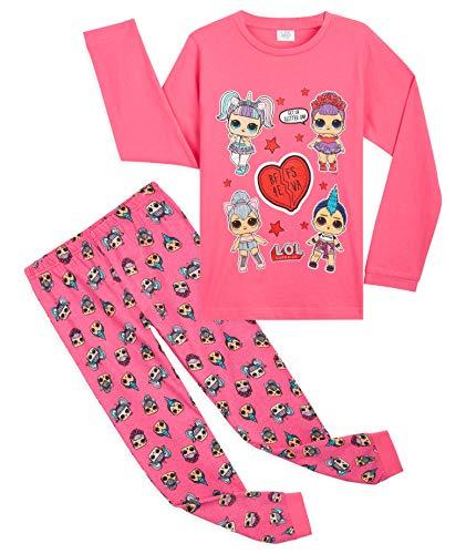 L.O.L. Surprise! Schlafanzug Mädchen, Süße Rosa Püppchen BFF Pyjama Set 4-10 Jahren, Baumwolle Winter...