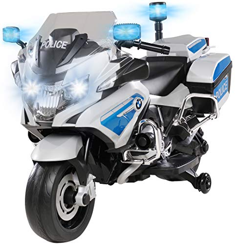 Kinder Polizei Elektromotorrad BMW R1200 Polizeimotorrad Elektroauto Elektro Kinderauto 30 Watt Motor...