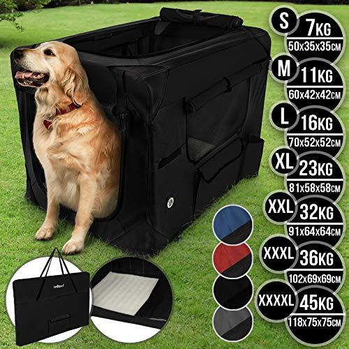 Hundebox aus Stoff - faltbar, zusammengefaltet tragbar, abwaschbar, Farbwahl, Größenwahl S-XXXXL -...