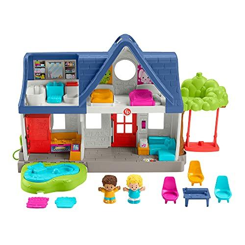 Fisher-Price HCJ46 - Little People Spielhaus, Spielset mit Smart-Stages-Lerninhalten für Kleinkinder und...