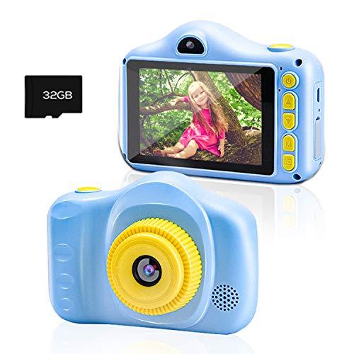 Kinderkamera, Chalpr Kamera für Kinder, Digitale Kinderkameras mit 3,5-Zoll-Bildschirm 12MP 1080P...