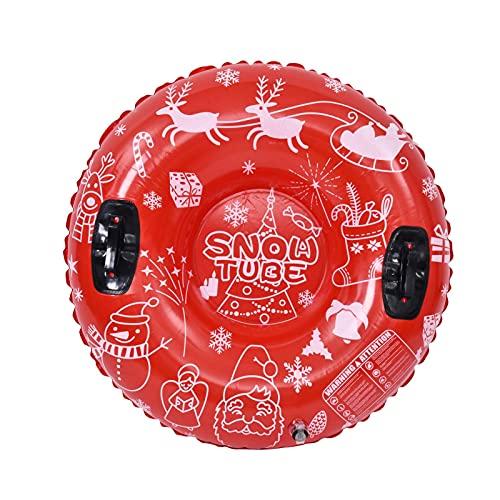 TLM Toys Kinder Aufblasbare Schlitten,Verdicken Snow Tube Erwachsene,Runden Aufblasbare Schlitten...