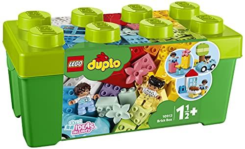 LEGO 10913 DUPLO Classic Steinebox, Bauset mit Aufbewahrungsbox, erste Bausteine, Lernspielzeug für...