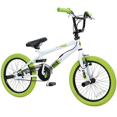 deTOX 18 Zoll BMX Freestyle Kinder BMX Anfänger ab 120 cm, 6 J, Farbe:Weiss/grün