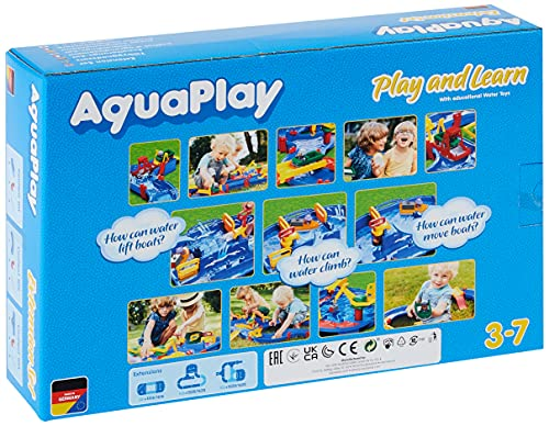 AquaPlay - T-Stück 2x - Erweiterungsset für AquaPlay Wasserbahnen, 2 x T-Stück Elemente, 3 x...