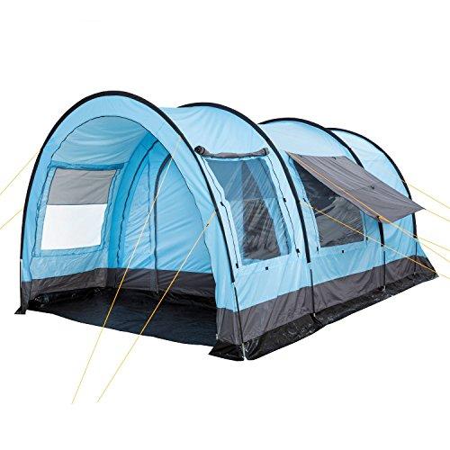 CampFeuer Tunnelzelt für 4 Personen Relax4 | Variables Tunnelzelt mit abtrennbarer Schlafkabine und...