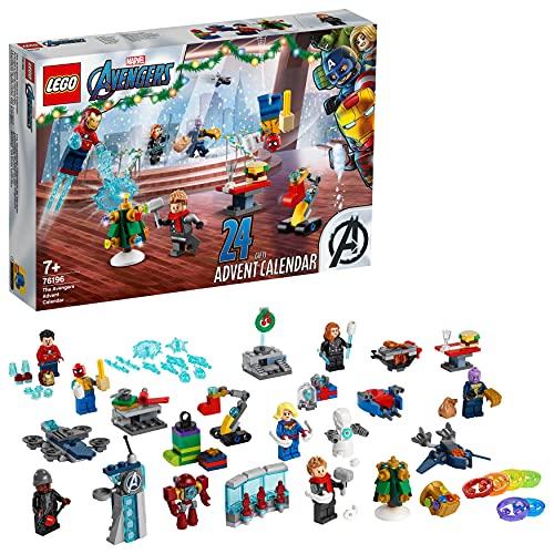 LEGO 76196 Marvel Avengers Adventskalender 2021 Spielzeugset aus Bausteinen mit Spider-Man und Iron Man...