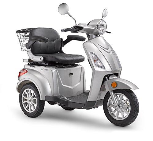 Elektroroller LuXXon E3800 - Elektro Dreirad für Senioren mit 800 Watt, max. 20 km/h, Reichweite bis zu...