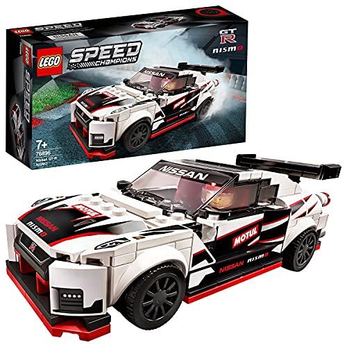 Lego 76896 Speed Champions Nissan GT-R NISMO Rennwagenspielzeug mit Rennfahrer Minifigur, Rennfahrzeuge...