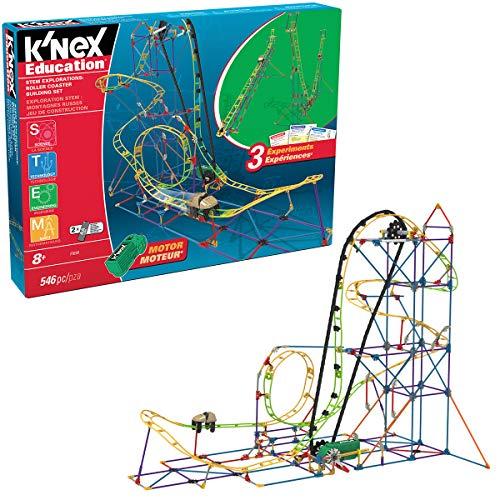K'Nex 77078 STEM Explorations Achterbahn-Aufbauset für Altersgruppen 8+ Aufbau-und Bildungs-Spielzeug,...