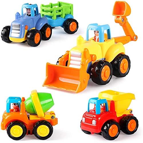 GoStock Baby Spielzeugauto Spielsachen Baufahrzeuge für Kinder 12 18 Monate, Spielzeug Auto für...