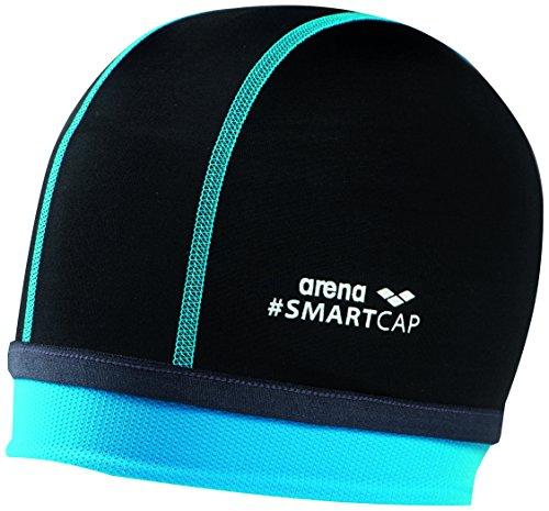 arena Kinder Unisex Badekappe Smartcap Junior (Extraweich, Perfekt für lange Haare), Black (500), One...