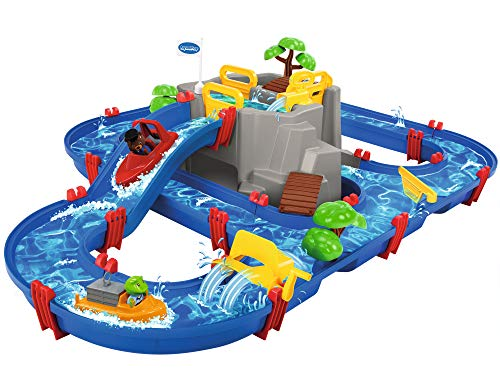 AquaPlay - Wasserbahn Set Bergsee - 42-teiliges Spieleset mit Bergsee, Wasserfall und geheimer Höhle,...