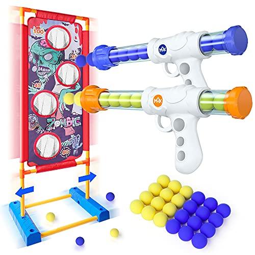 VATOS Bewegliche Schießen Zielscheibe Spielzeug für Kinder Aktivitätsspiel 2 Popper Air Guns mit 24...