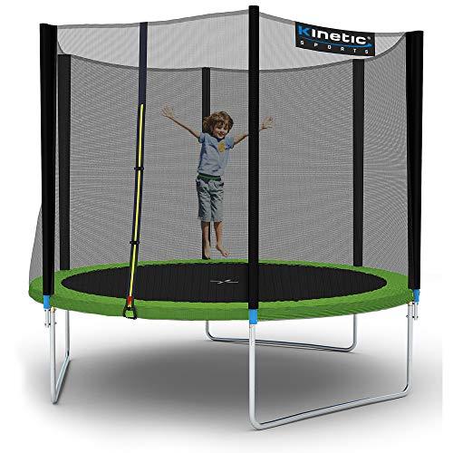 Kinetic Sports Outdoor Gartentrampolin Komplettset inklusive Sprungtuch aus USA-Mesh +Sicherheitsnetz...