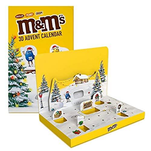 M&M'S Weihnachtskalender 2021  Adventskalender mit Schokolade   Peanut, Chocolate und Crispy  346g