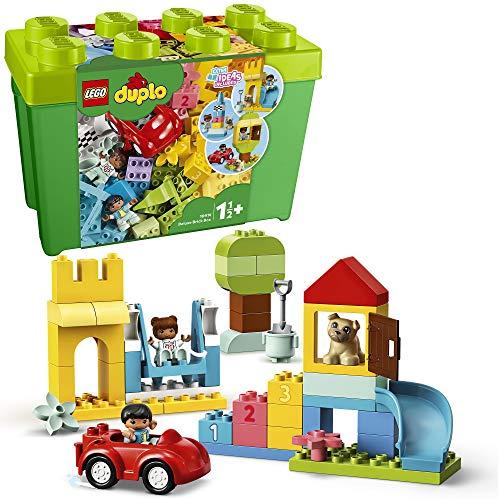 LEGO 10914 DUPLO Classic Deluxe Steinebox Bauset mit Aufbewahrungsbox, erste Steine Lernspielzeug für...
