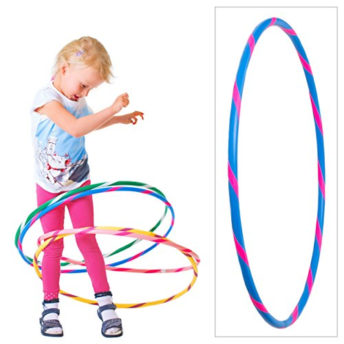 hoopomania Bunter Kinder Hula Hoop für kleine Profis, Ø60cm, Blau-Pink
