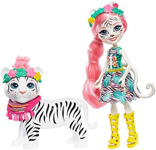 Enchantimals GFN57 - Themenpack Tadley Tiger und Kitty Puppen, Spielzeug ab 4 Jahren