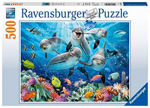 Ravensburger Puzzle 14710 - Delfine im Korallenriff - 500 Teile Puzzle für Erwachsene und Kinder ab 10...