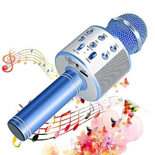 SunTop Bluetooth Karaoke Mikrofon Kinder, Drahtlose Mikrofon Player mit Lautsprecher Dynamisches Mikrofon...