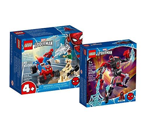 Collectix Lego Set - Marvel Das Duell von Spider-Man und Sandman 76172 + Marvel Miles Morales Mech 76171