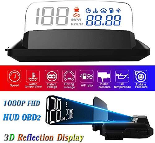 YUGUANG 5' 1080P LED OBD2 HUD-Display Auto 3D-Reflexion Genug Klares Bild Gegen Sonnenlicht...