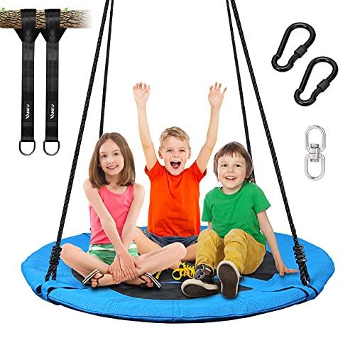 Vanku 300KG Nestschaukel für Kinder Erwachsene Outdoor Garten mit 100cm Sitzflächendurchmesser und...