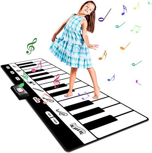 Musikmatte Kinder Klaviermatte, Groß Tanzmatte Musikmatte Kinderspielzeug Klaviermatte mit 8...