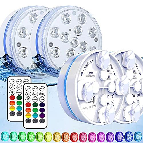 Joycome Unterwasser Licht, Poolbeleuchtung 13 RGB LED Badewanne Licht, IP68 Wasserdicht Teichbeleuchtung...