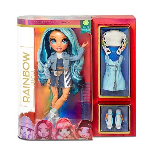 Rainbow High Fashion Doll – Skylar Bradshaw - Blaue Puppe mit Luxus-Outfits, Accessoires und...