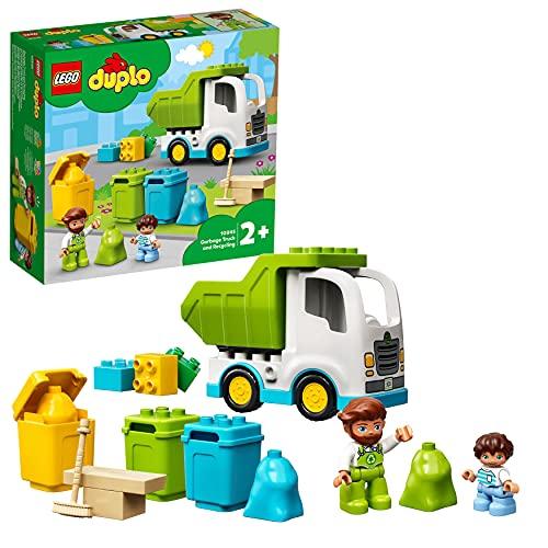 LEGO 10945 DUPLO Müllabfuhr und Wertstoffhof, Müllauto Spielzeug, Lernspielzeug, Kinderspielzeug ab 2...