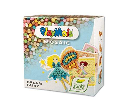 PlayMais Mosaic Dream Fairy Kreativ-Set zum Basteln für Mädchen ab 5 Jahren | Über 2.300 Stück & 6...