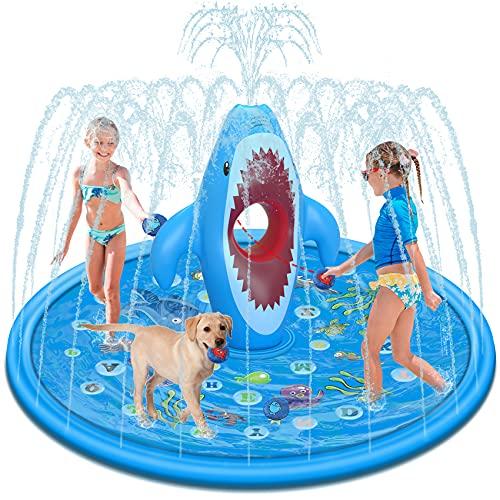 Tobeape Large Splash Pad für Kinder, Sprinkler Play Matte Outdoor Aufblasbare Garten Wasserspielmatte,...